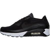 Nike Mens Air Max 90 Ultra 2.0 Flyknit Trainers Black/Black/White/Black
