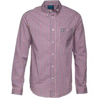 Henleys Mens Long Sleeve Checked Shirt Blue/Red Check