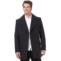 French Connection Mens Deans Double Breasted Coat Charcoal