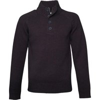 French Connection Mens Island Placket Knit Darkest Blue