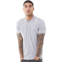 French Connection Mens Jersey Polo Light Grey Melange