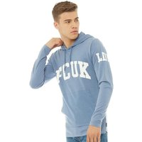 French Connection Mens FCUK LDN Hoody Light Blue Melange