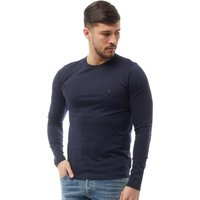 French Connection Mens Long Sleeve T-Shirt Marine