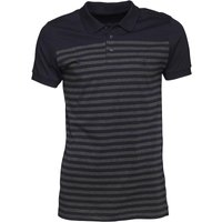 French Connection Mens Stripe Polo Marine/Charcoal