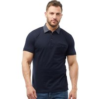 French Connection Mens Woven Collar Polo Marine