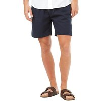 French Connection Mens Draw Linen Shorts Marine