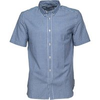 French Connection Mens Gingham Shirt Blue