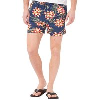 French Connection Mens Floral 2 Swim Shorts Blue Floral