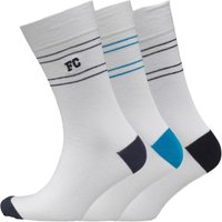 French Connection Mens Three Pack Socks Blue/Delft/Marine Blue