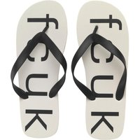 French Connection Mens Costa Flip Flops White/Black