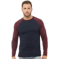 French Connection Mens Raglan Long Sleeve Top Marine/Chateaux