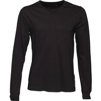 French Connection Mens Raglan Henleys Long Sleeve Top Black