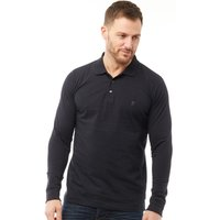 French Connection Mens Jersey Long Sleeve Polo Marine
