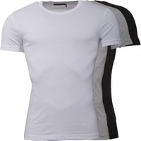 French Connection Mens Three Pack T-Shirts White/Black/Grey