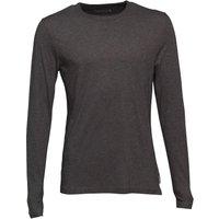 French Connection Mens Crew Neck Long Sleeve Top Charcoal Melange