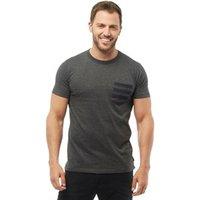 French Connection Mens 4 Stripe Pocket T-Shirt Charcoal Melange
