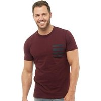 French Connection Mens 4 Stripe Pocket T-Shirt Chateaux