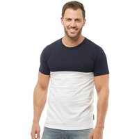 French Connection Mens Block T-Shirt Marine/White