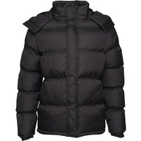 French Connection Mens Row Hooded Padded Jacket Black