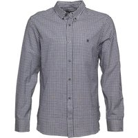 French Connection Mens Gingham Long Sleeve Shirt Marine