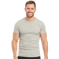 French Connection Mens FC Lounge T-Shirt Light Grey Marl/Marine