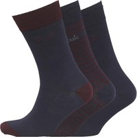 French Connection Mens FCUK Three Pack Stripe Socks Marine/Chateaux