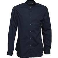 French Connection Mens Formal Henley Shirt Marine