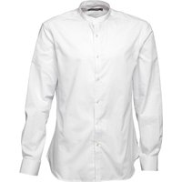 French Connection Mens Formal Henley Shirt White