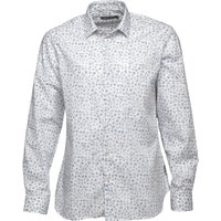 French Connection Mens Formal Printed Cut Shirt Mid Blue Floral