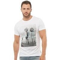 French Connection Mens Beach 4 T-Shirt White