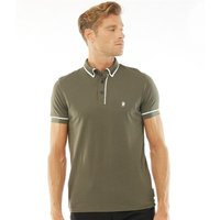 French Connection Mens Piping Polo Khaki
