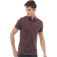 French Connection Mens Woven Collar Polo Chateaux Melange