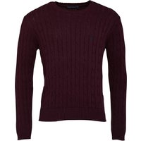 French Connection Mens Cable Crew Neck Jumper Chateaux