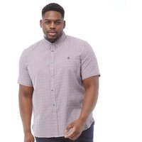 French Connection Mens Plus Size Gingham Short Sleeve Shirt RVM Gingham