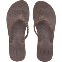 Onfire Womens Leather Toe Post Sandals Brown