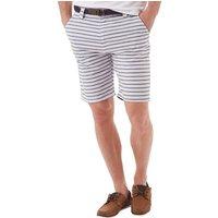 Onfire Mens Striped Shorts Ecru/Navy