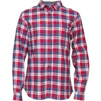 Onfire Mens Long Sleeve Checked Shirt Red/Blue/White