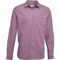 Onfire Mens Long Sleeve Gingham Shirt Red/Navy/White
