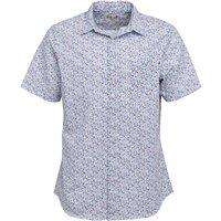 Onfire Mens Short Sleeve Floral Shirt White
