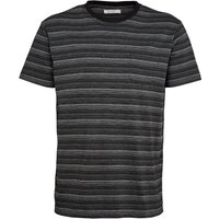 Onfire Mens Striped T-Shirt Black