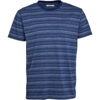 Onfire Mens Striped T-Shirt Navy
