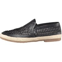 Onfire Mens Leather Interlaced Shoes Navy
