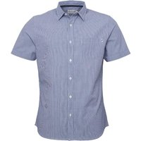 Onfire Mens Ticking Stripe Shirt Blue/White