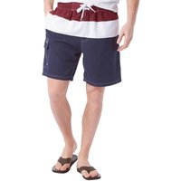 Onfire Mens Panelled Swim Shorts Navy/White/Wine