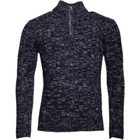 Onfire Mens Zip Neck Sweater Blue Twist