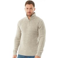 Onfire Mens Zip Neck Sweater Grey Twist