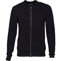 Onfire Mens Zip Through Baseball Neck Cardigan Dark Navy