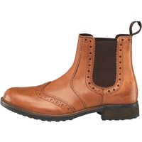 Onfire Mens Leather Brogue Dealer Boots Tan
