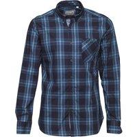 Onfire Mens Long Sleeve Check Shirt Navy/Teal Check