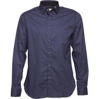 Onfire Mens AOP Long Sleeve Shirt Blue/White